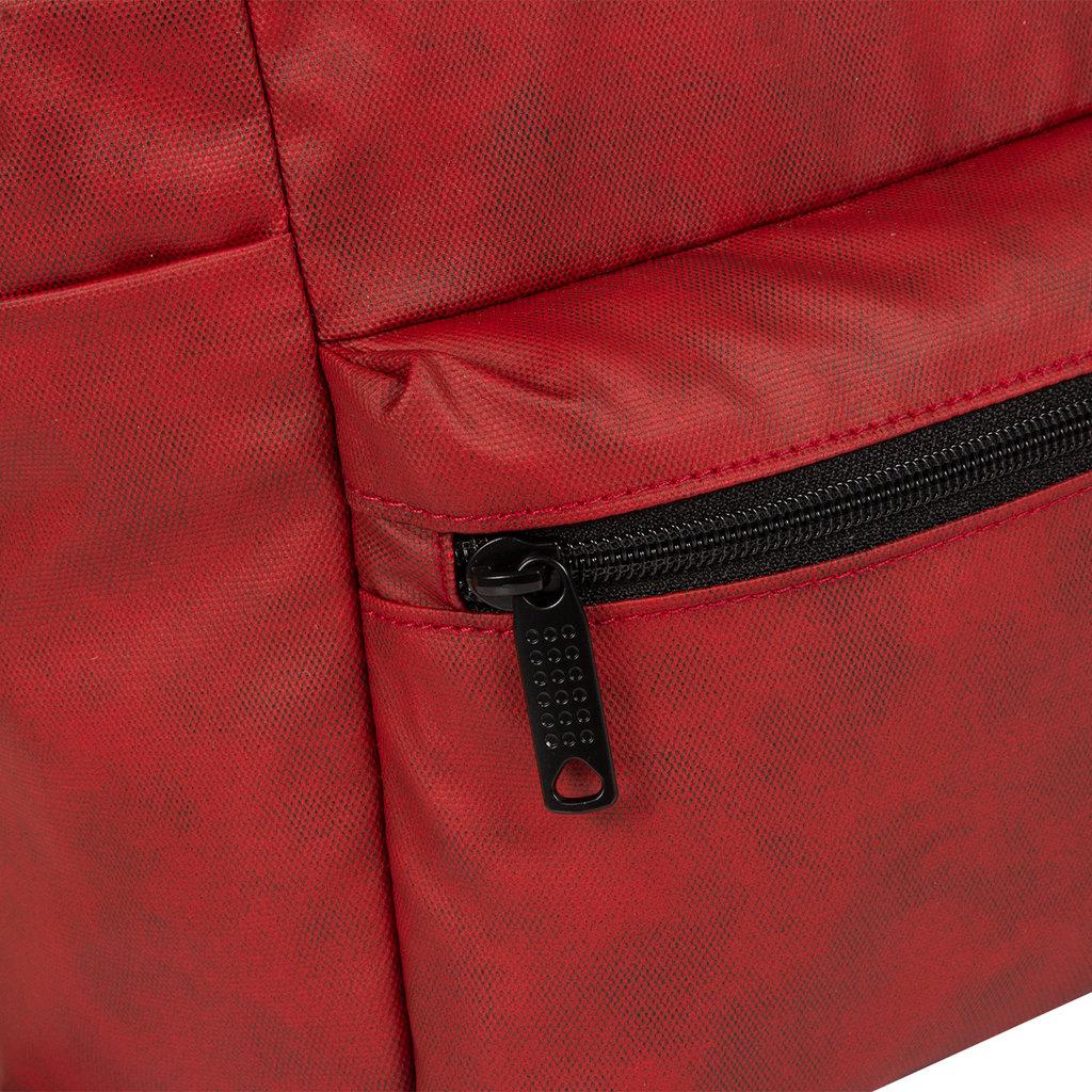 New Rebels Waxed red shopper backpack