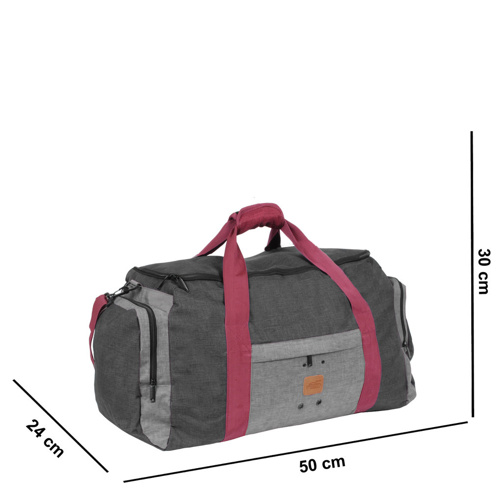 Wodz Sports Bag Anthracite/Grey Small IV | Weekendtas | Sporttas