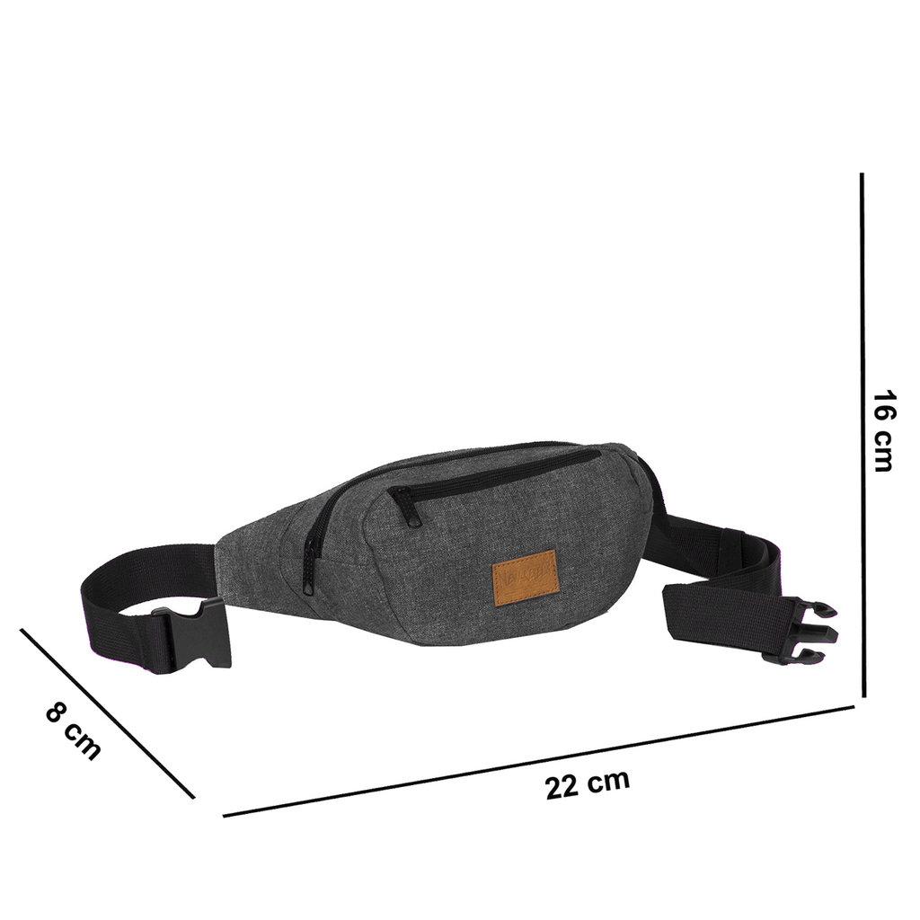 Heaven Waistbag Black Medium II | Bauchtasche