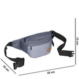 Creek Waist Bag Soft Blue/Grey VIII | Heuptasje