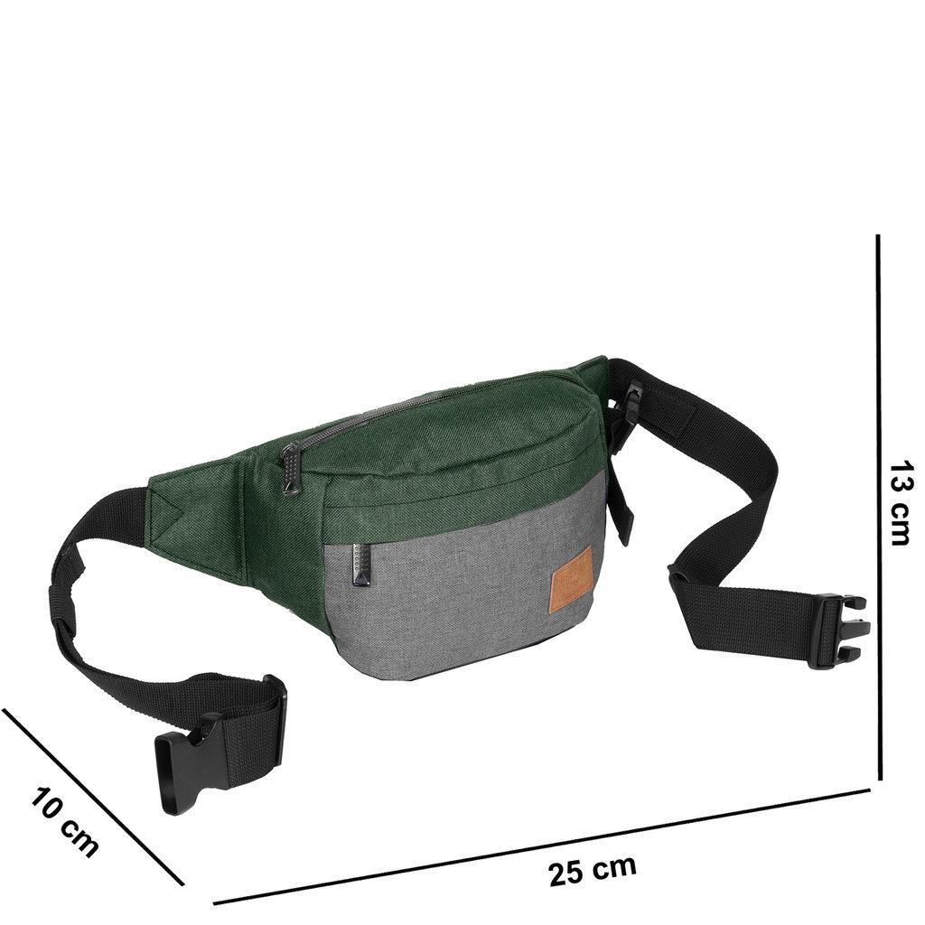 Creek Waist Bag Dark Green/Anthracite VIII | Bauchtasche