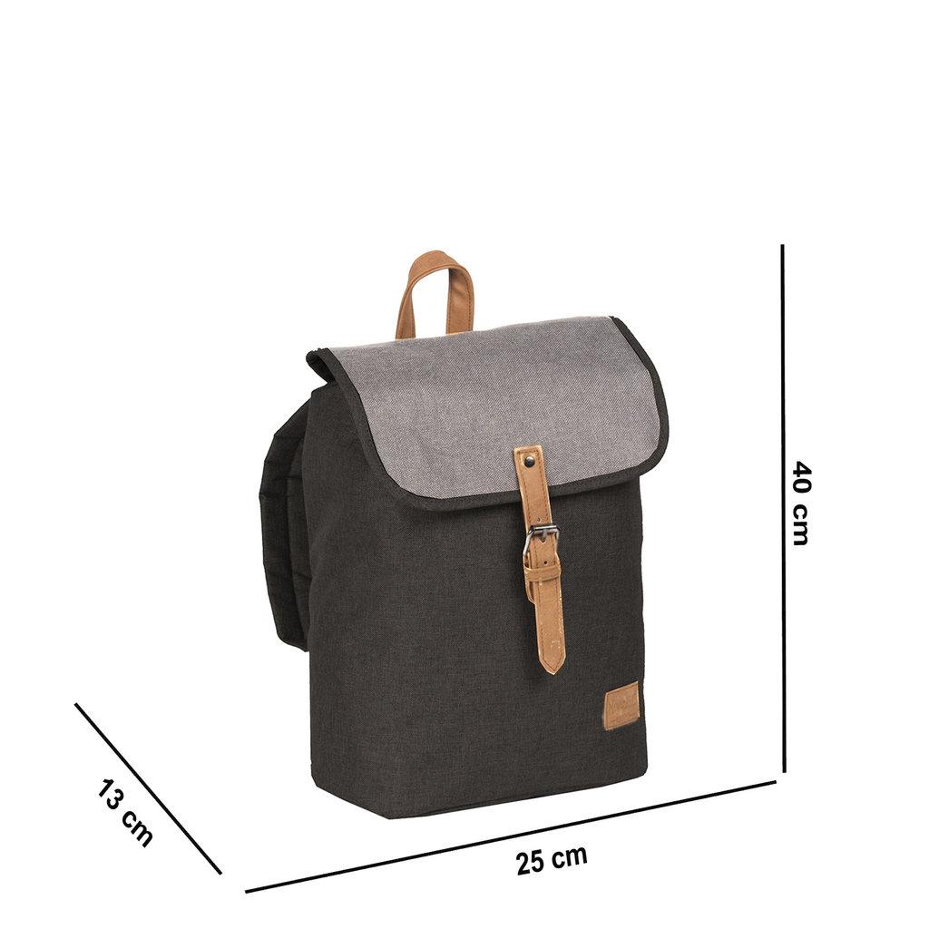 Creek Small Flap Backpack Black IV | Rucksack