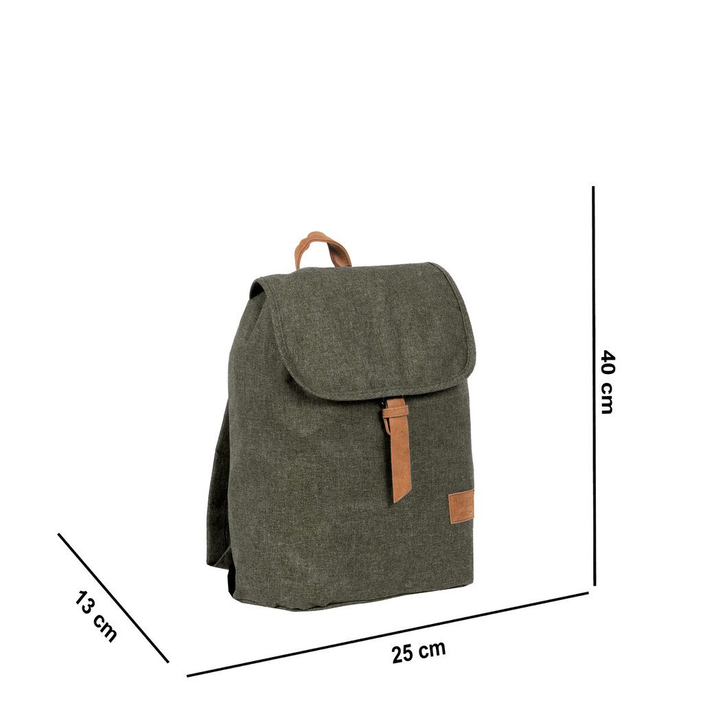 Heaven Small Flap Backpack Dark Green XIX | Rucksack