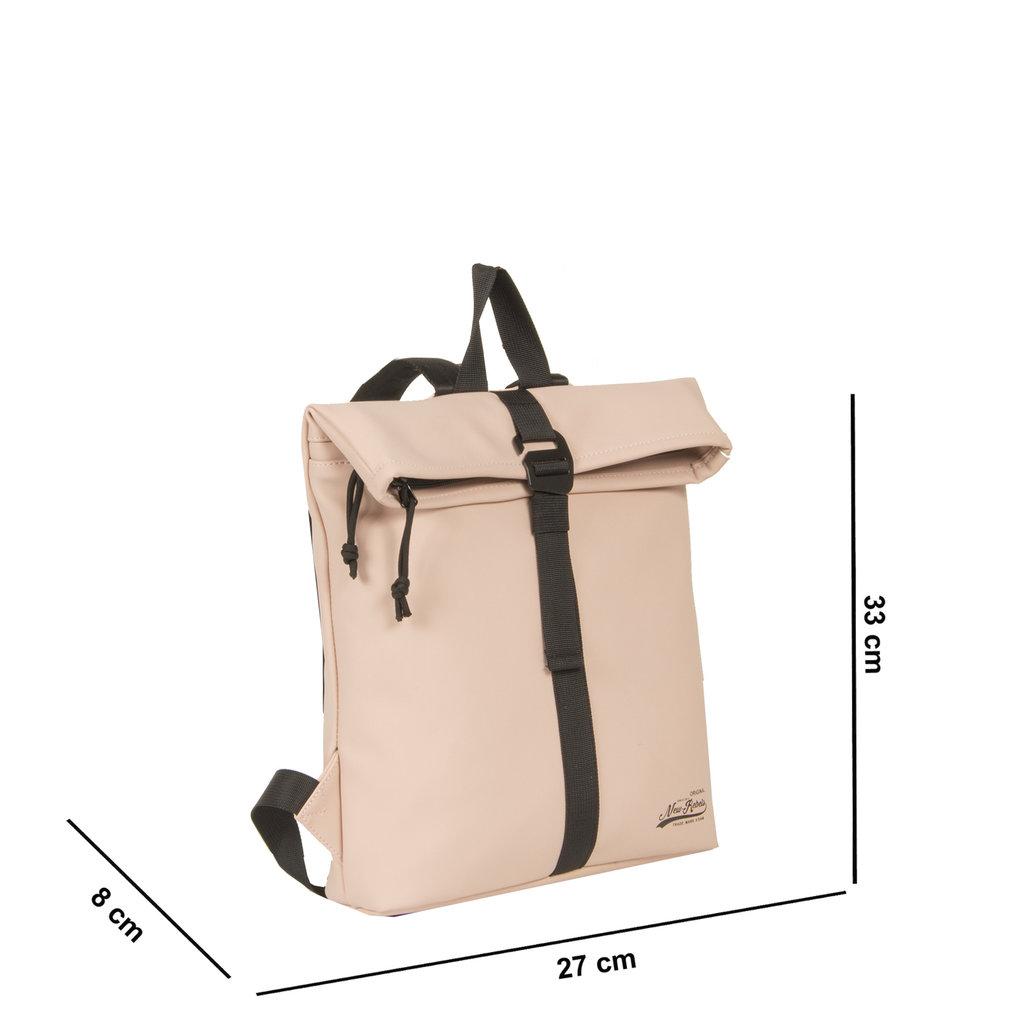 New-Rebels® Mart - Roll-Top - Backpack - Waterafstotend - Zacht Roze - Small II - 27x8x33cm - Rugtas - Rugzak