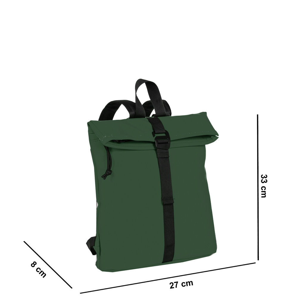 Mart Roll-Top Backpack Dark Green Small II | Rugtas | Rugzak
