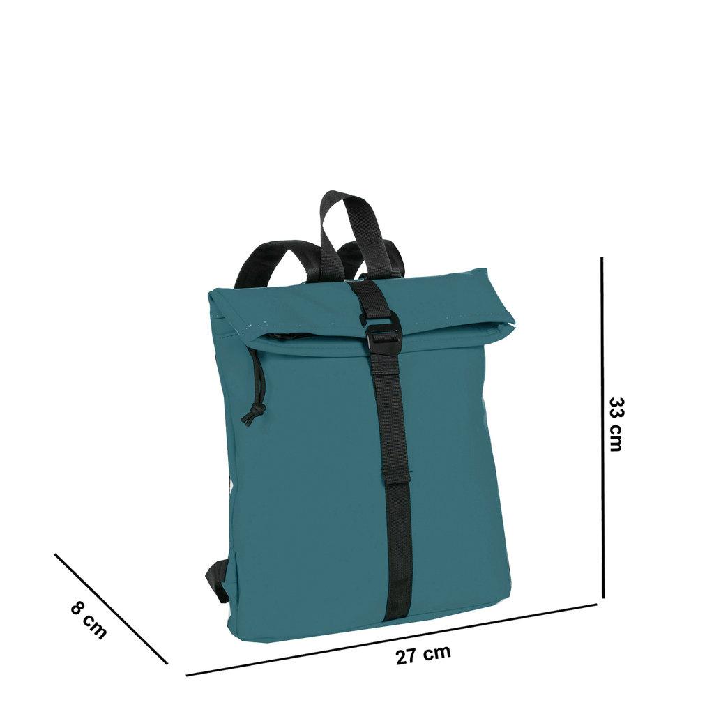 New-Rebels® Mart - Roll-Top - Backpack - Petrol - Small II - 27x8x33cm - Backpack
