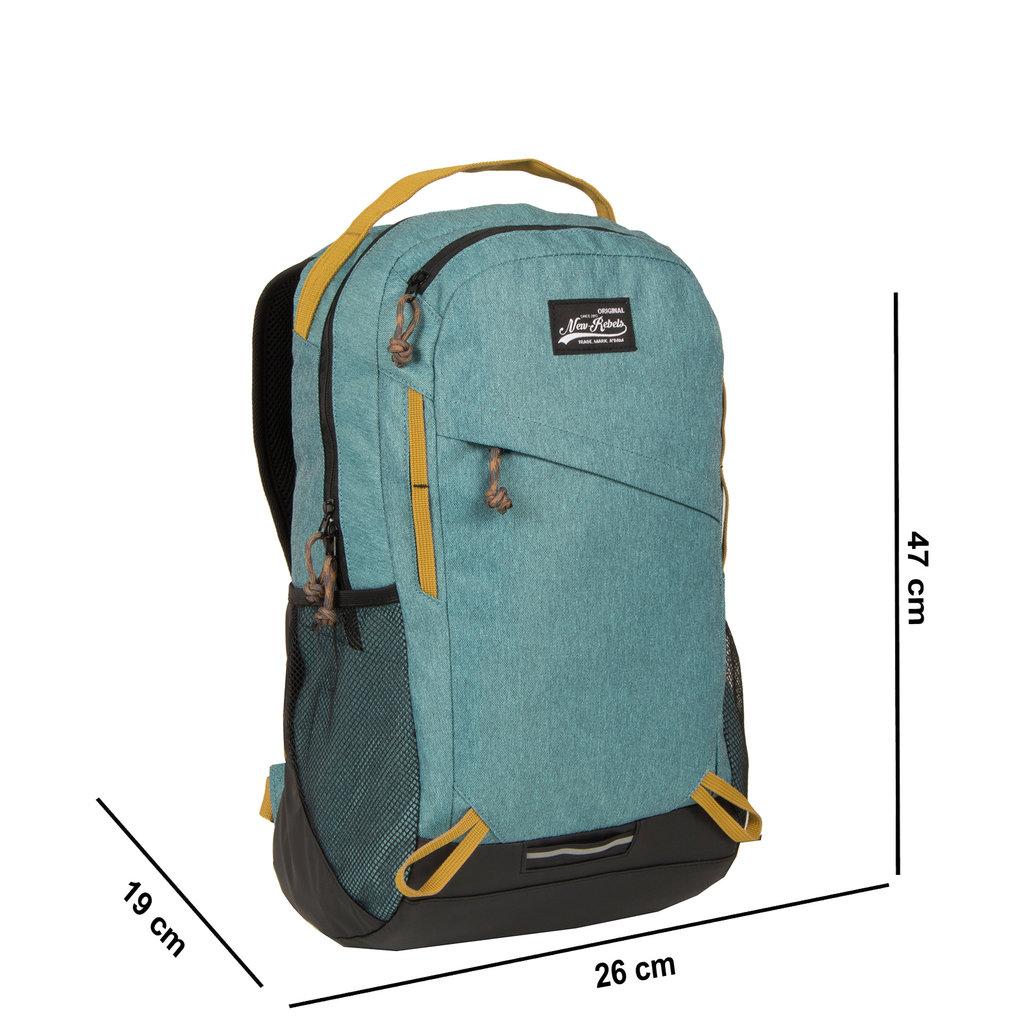 New Rebels  Jack Backpack Round Medium Turquoise
