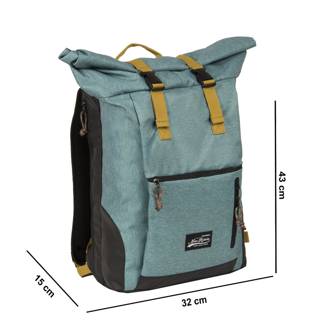 New Rebels Jack Roll Top Backpack Turquoise