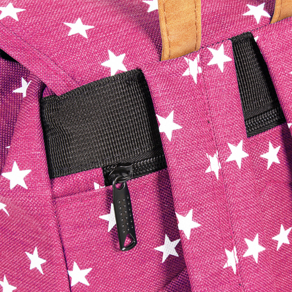 New Rebels star small flap backpack soft pink