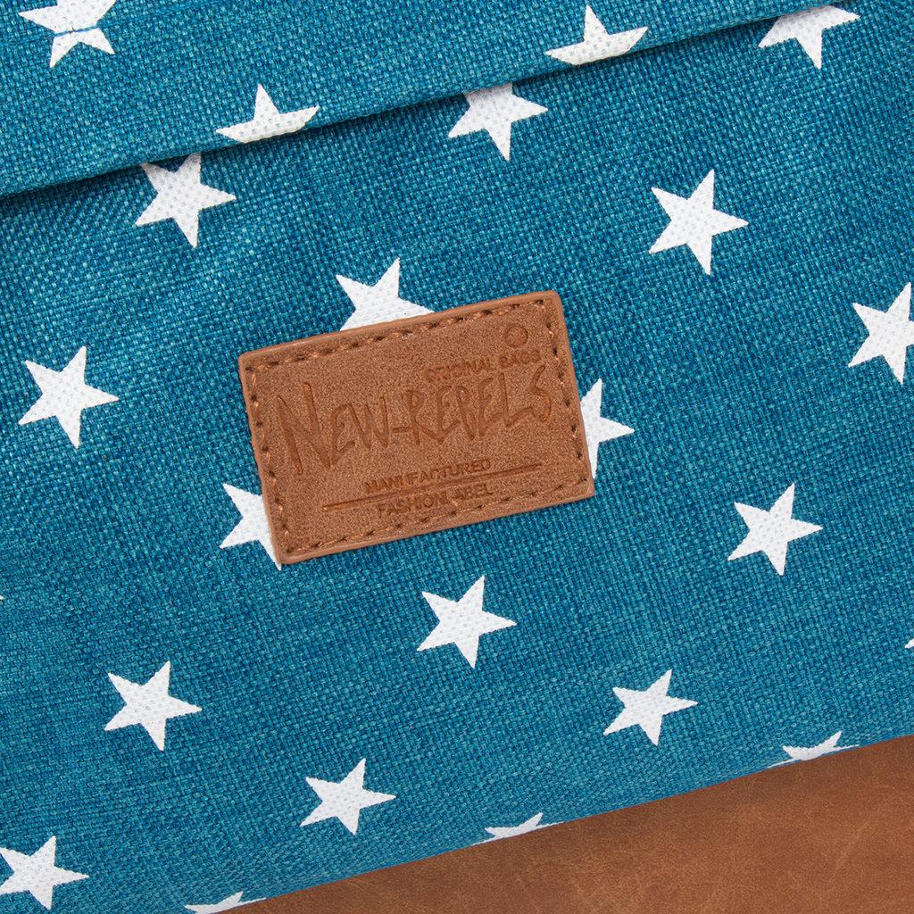 New-Rebels ® Star Range BP - Rugzak - Rugtas - 16L - Polyester - Lichtblauw met Sterren