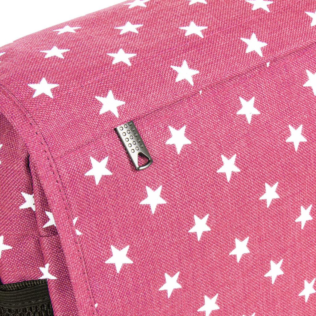 New Rebels®  Star25 - Medium Schoudertas  A5 - Crossbodytas met flap – Zwart