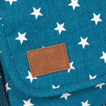 New Rebels®  Star25 - Medium Schoudertas  A5 - Crossbodytas met flap - New Blue