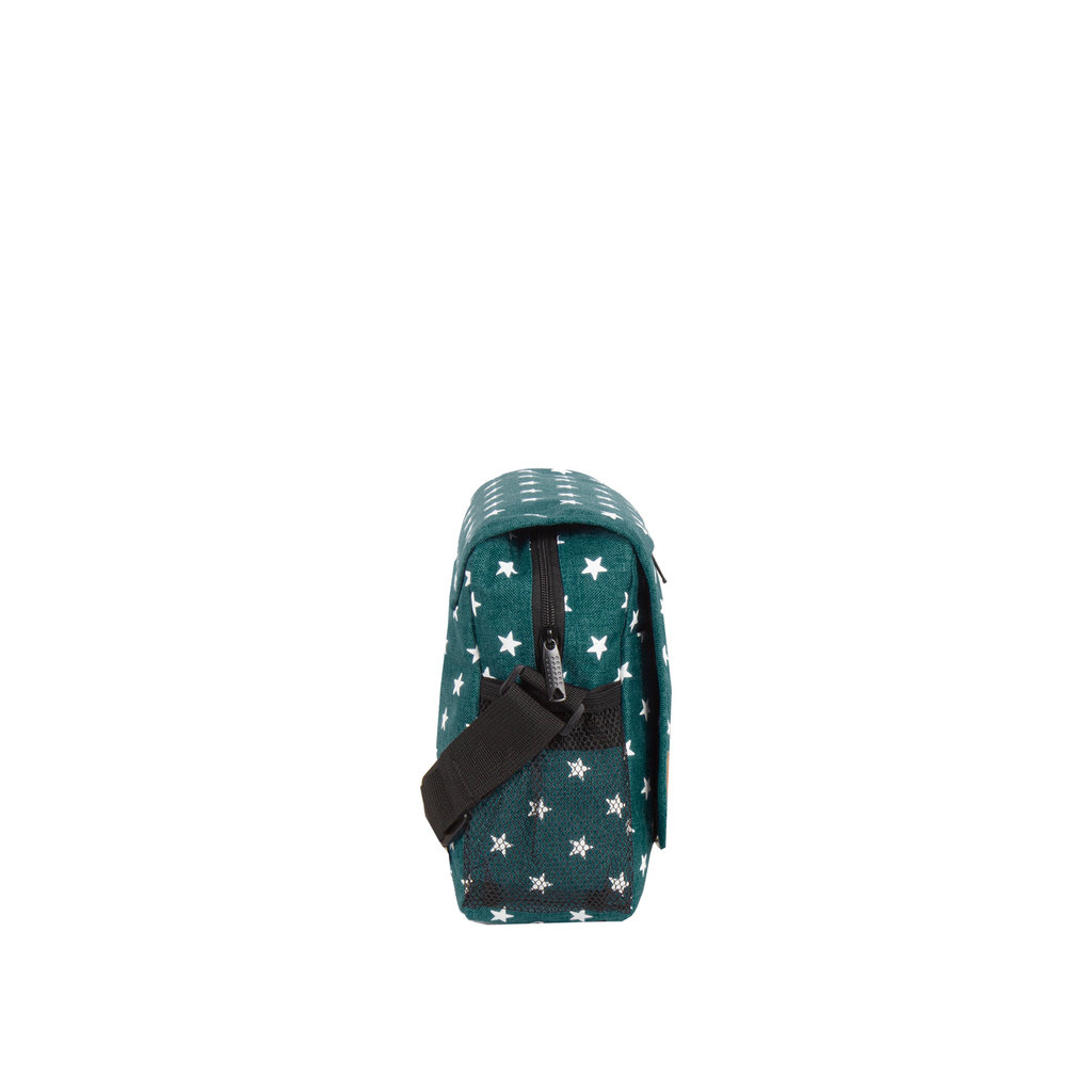 New Rebels®  Star25 - Medium Schoudertas  A5 - Crossbodytas met flap -  Frog Green
