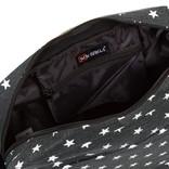 New Rebels®  Star25 - Medium Schoudertas  A5 - Crossbodytas met flap  - Grijs - with stars