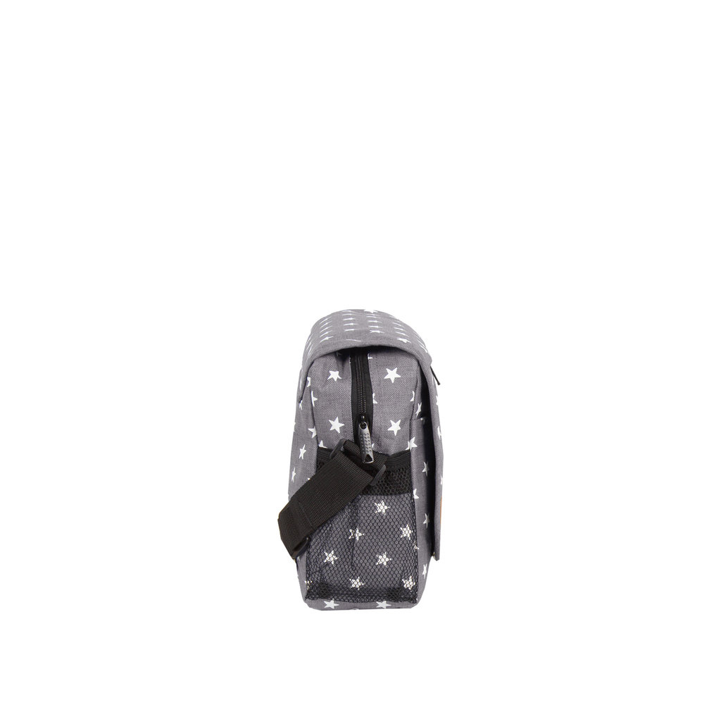New Rebels®  Star25 - Medium Schoudertas  A5 - Crossbodytas met flap - with stars  - Grijs
