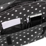 New Rebels®  Star26 - Medium Schoudertas  A5 - Crossbodytas met flap - Black with stars