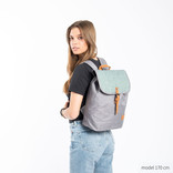 Creek Small Flap Backpack Anthracite/Mint IV
