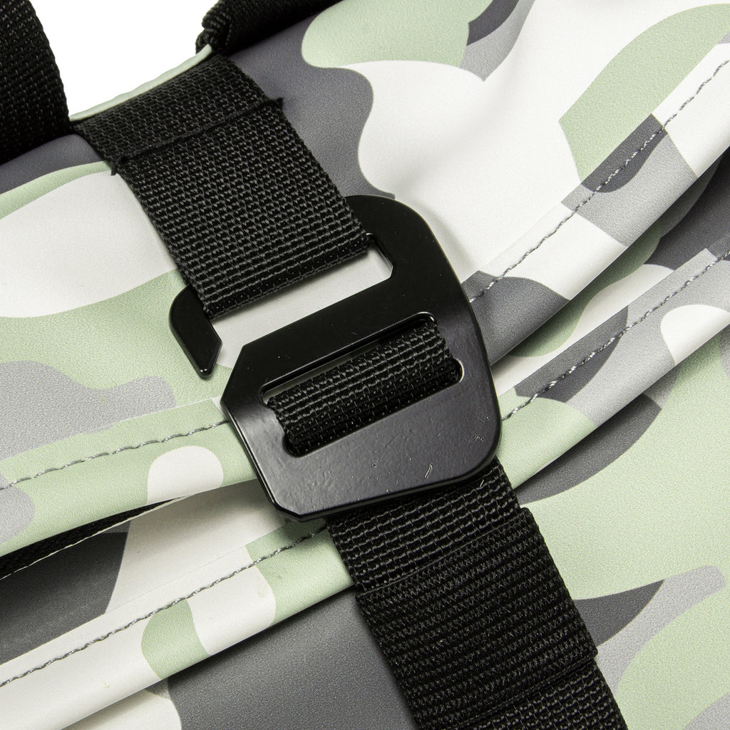 New-Rebels® Mart - Roll-Top - Backpack - Camouflage Mint - Small II - 27x8x33cm - Rucksack