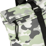 New-Rebels® Mart Roll-Top PU Backpack Camouflage - Army Small II