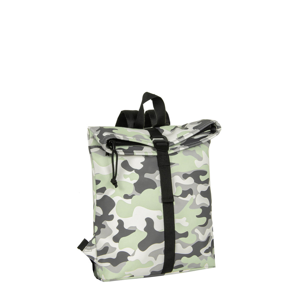 Mart Roll-Top PU Backpack Camouflage  - Army Small II