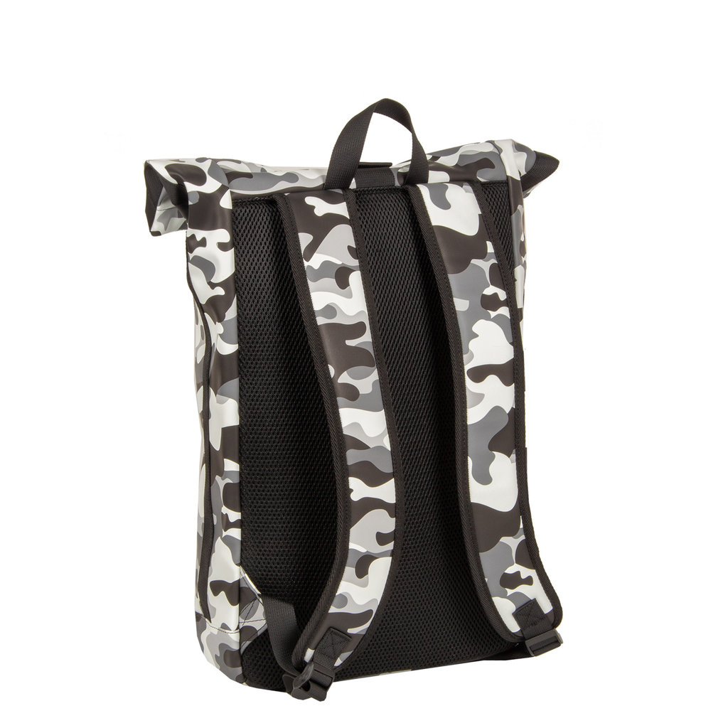 Mart Roll-Top PU Backpack Camouflage - Army Large II