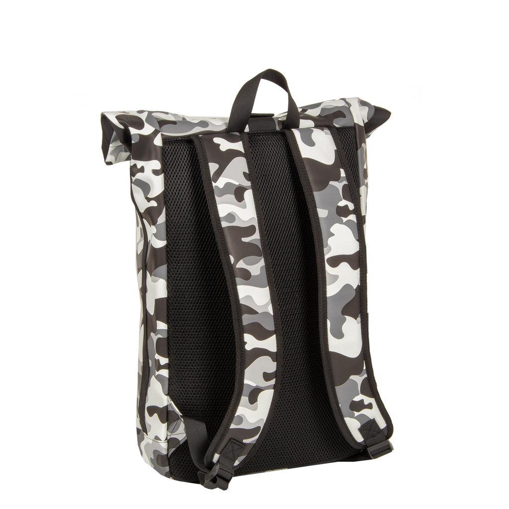 New-Rebels® Mart - Roll-Top - Backpack - Waterafstotend  - Camouflage Army - Large II - 30x12x43cm -Rugtas - Rugzak