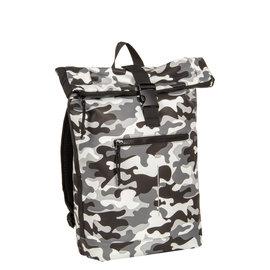 New-Rebels® Mart Waterafstotende Rolltop Laptop Rugzak - 15,6 inch -  Large II -  Camouflage  - Army