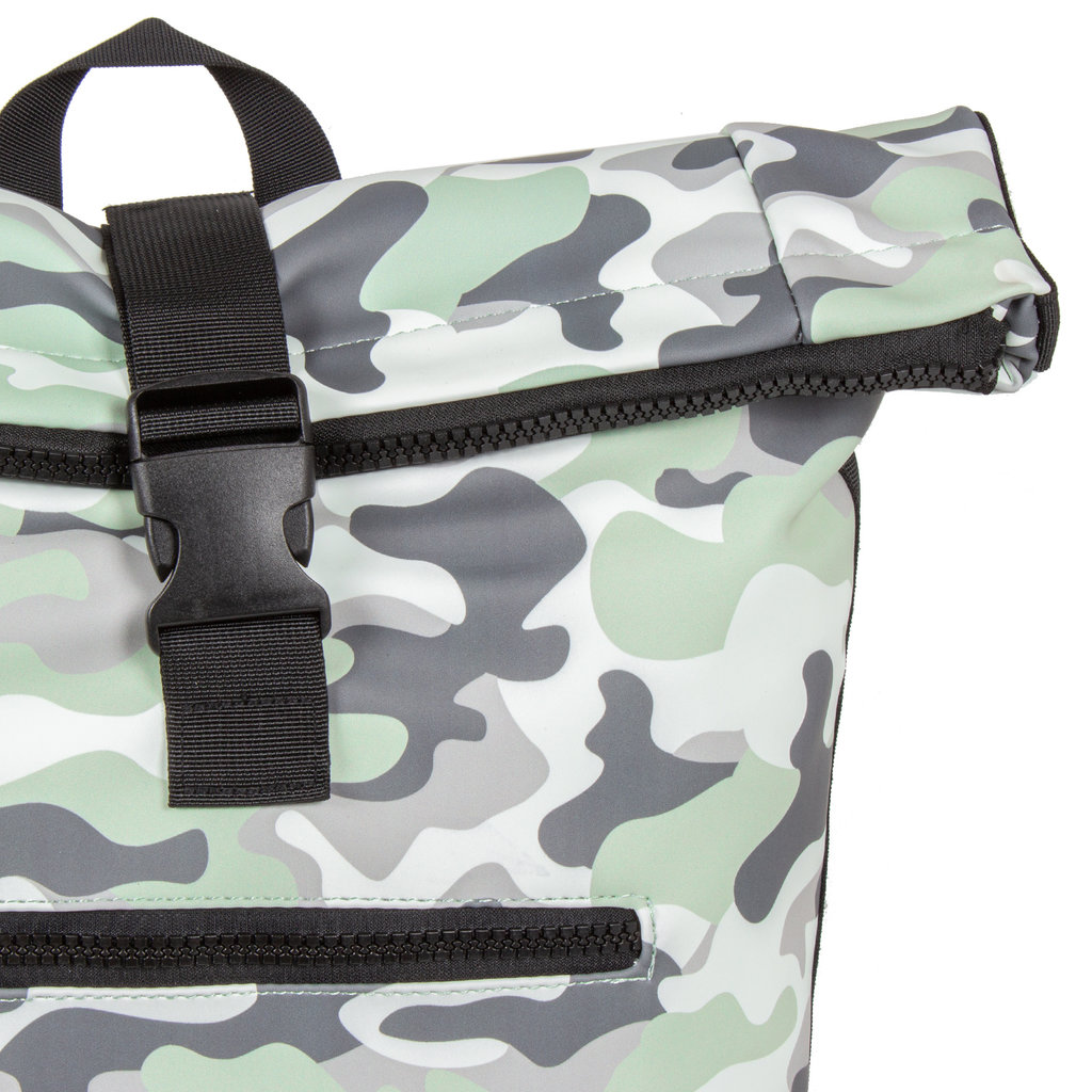 New-Rebels® Mart - Roll-Top - Backpack - Camouflage Mint - Large II - 30x12x43cm - Backpack