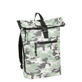 Mart Roll-Top Backpack Camouflage Mint Large II | Rugtas | Rugzak