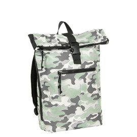 New Rebels Mart Waterafstotende Rolltop Laptop Rugzak - 15,6 inch -  Camouflage Army Mint Large II