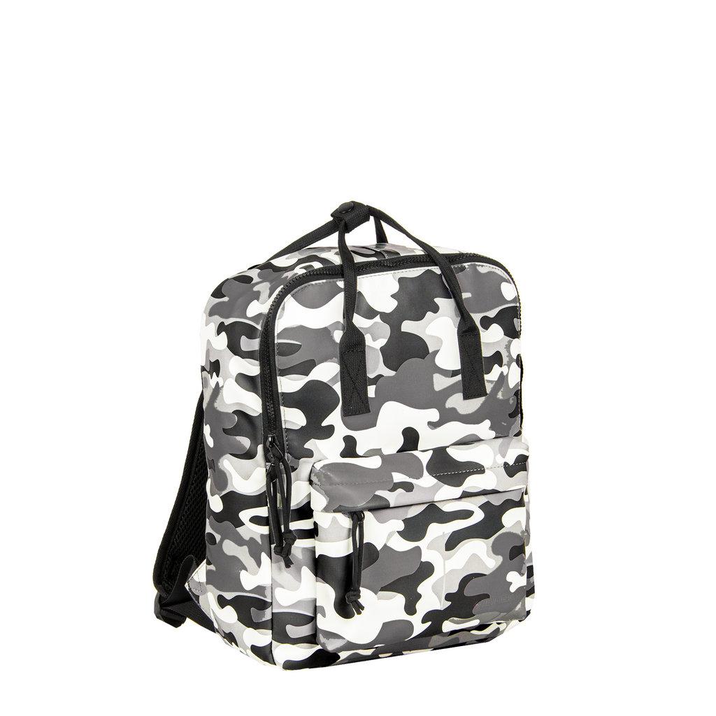 New-Rebels® Mart - Backpack - Waterafstotend - Army Camouflage Grijs IV - 28x16x39cm - Rugtas - Rugzak