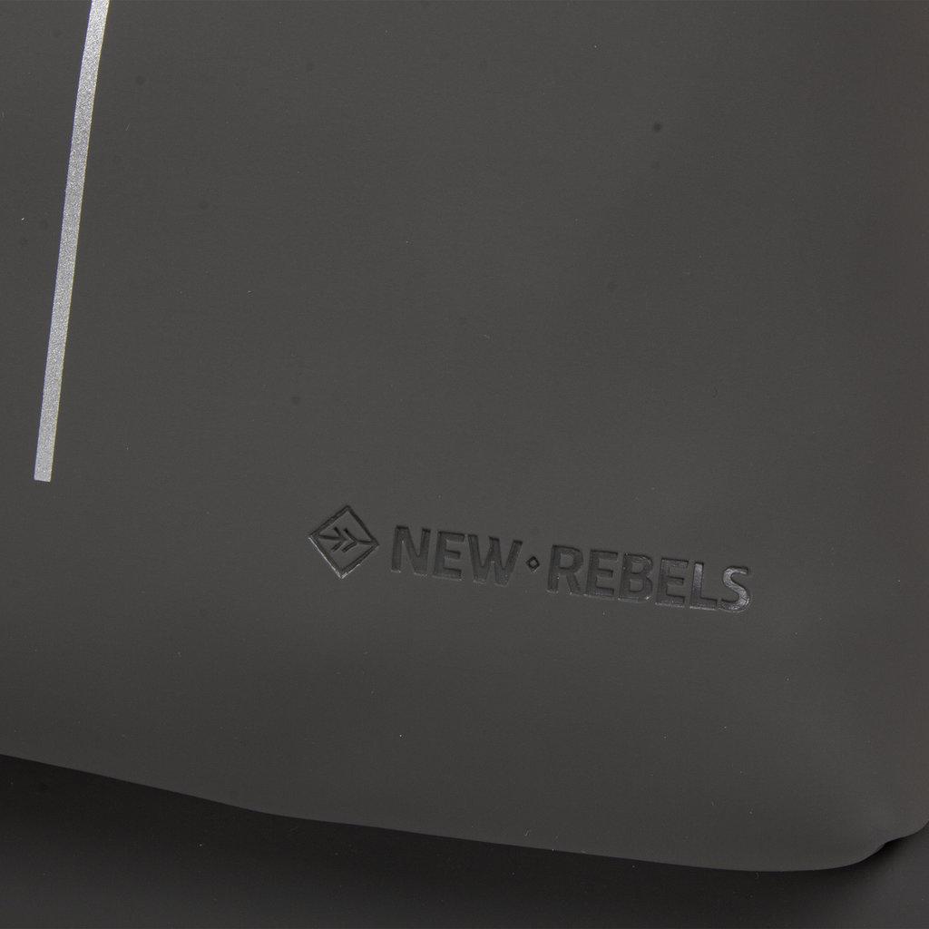 New Rebels®- Tim - Rugtas - Rugzak - Waterafstotend - Polyurethaan - Antraciet Geel