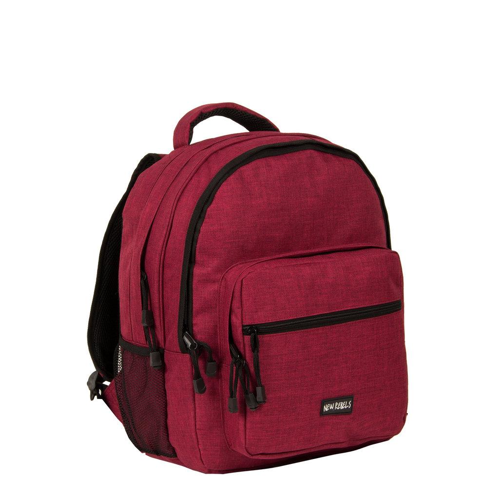 New-Rebels® Heaven School Backpack Burgundy
