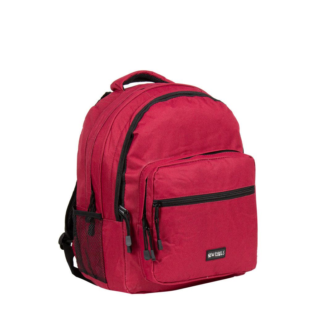 New Rebels®  Katschberg - Backpack - Laptop Compartment - 31x15x41cm - Burgundy