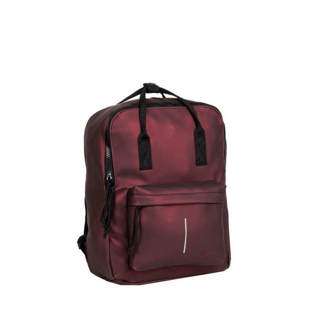 New-Rebels® Mart - Backpack - Metallic Burgundy IV - 28x16x39cm - Backpack