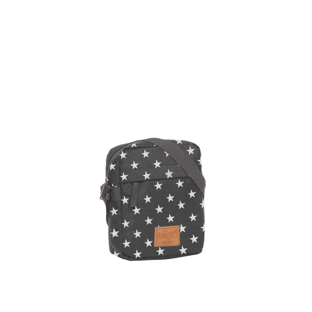 New-Rebels® Star - Range - Top zip - With stars - 18x7x23cm - Black