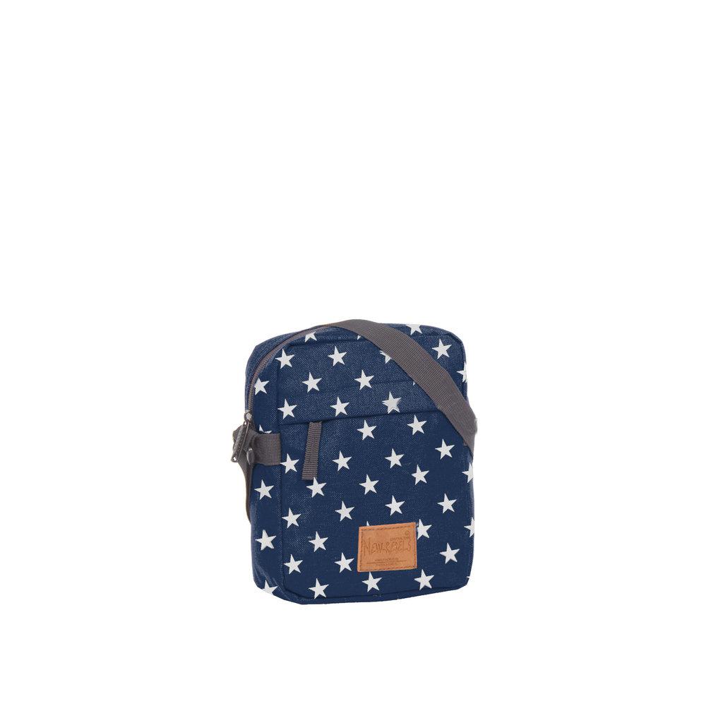 New-Rebels® Star - Range - Top zip - With stars - 18x7x23cm - Navy Blue