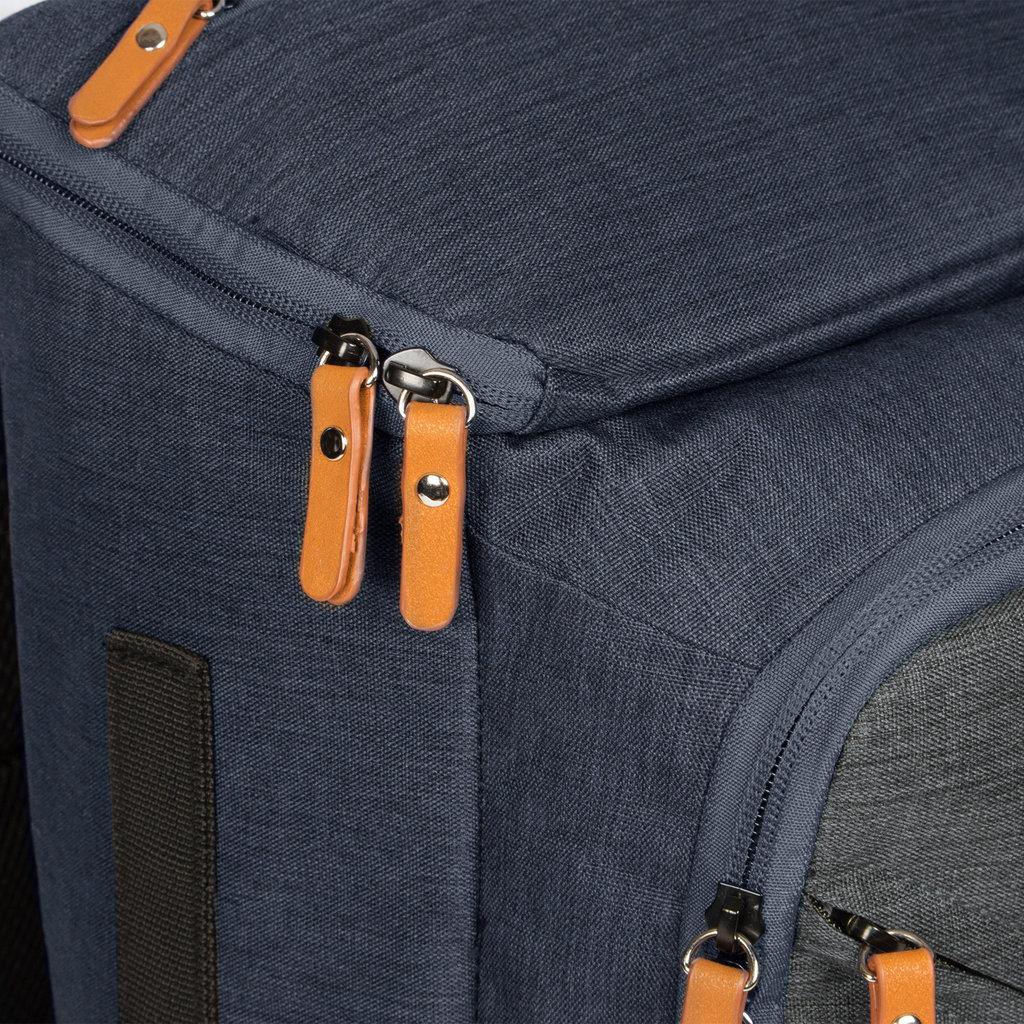 New-Rebels® - Karl - Laptoptas - Schooltas  - 21L - Nylon- Blauw - Grijs
