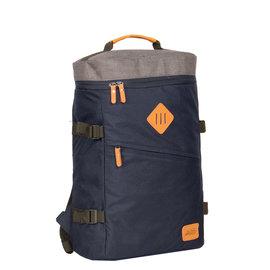 New-Rebels ®Karl backpack box laptop comp shadow blue