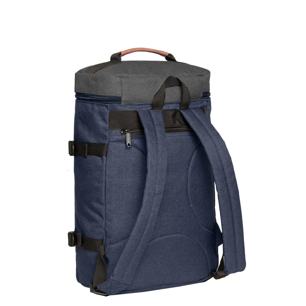 New-Rebels® - Karl - Laptoptas - Schooltas - 19L - Nylon -  Blauw