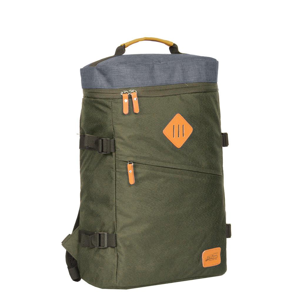 Karl backpack box laptop comp dark green