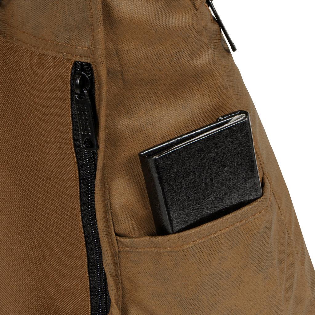 New-Rebels®  Waxed  Backpack | Rugtas Brown