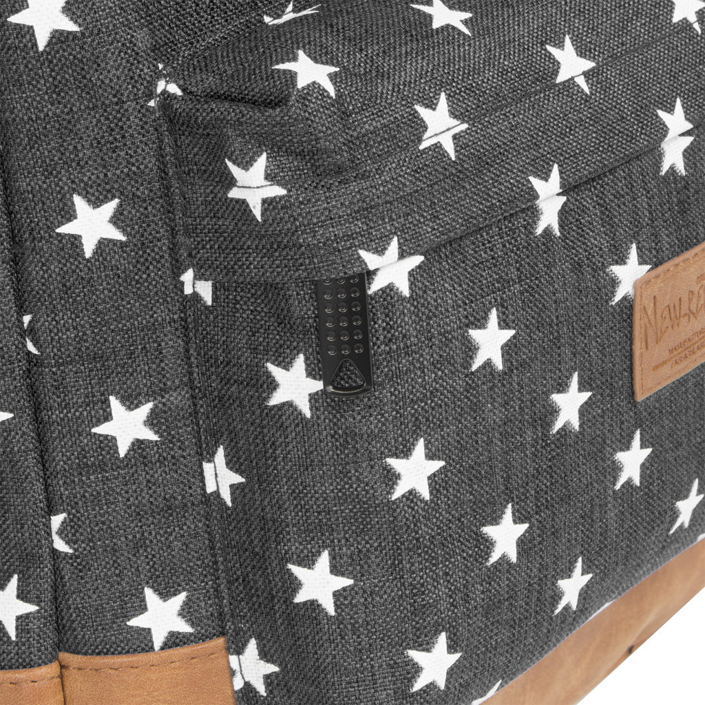 New-Rebels ® Star Range BP - Rugzak - Rugtas - 16L - Polyester - Zwart met Sterren