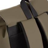 New-Rebels ® Mart PU Laptop Rugtas - 14 Liter - Olijf