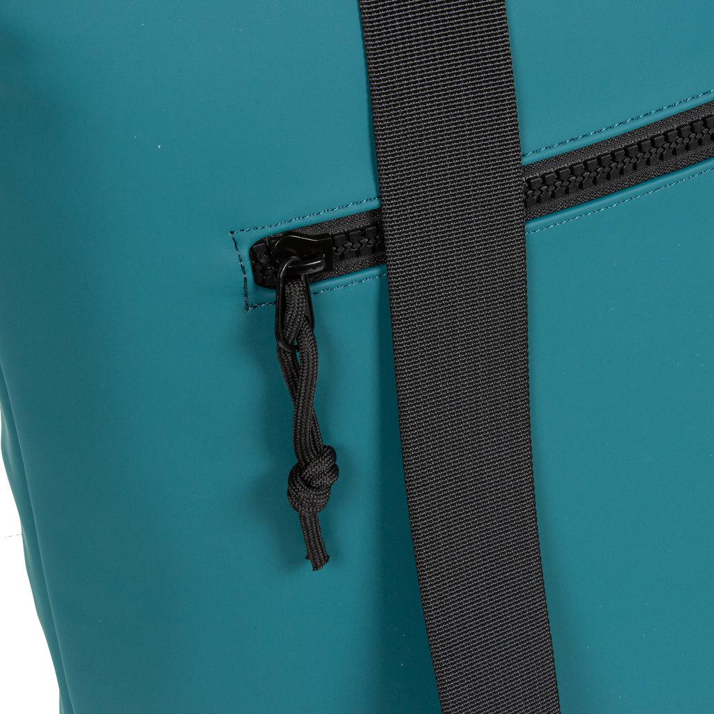 New Rebels® Mart - Top Zip - Water-resistant -  Backpack - Laptop bag 13,3 Inch. - Shopper - 30x15x44cm - Petrol