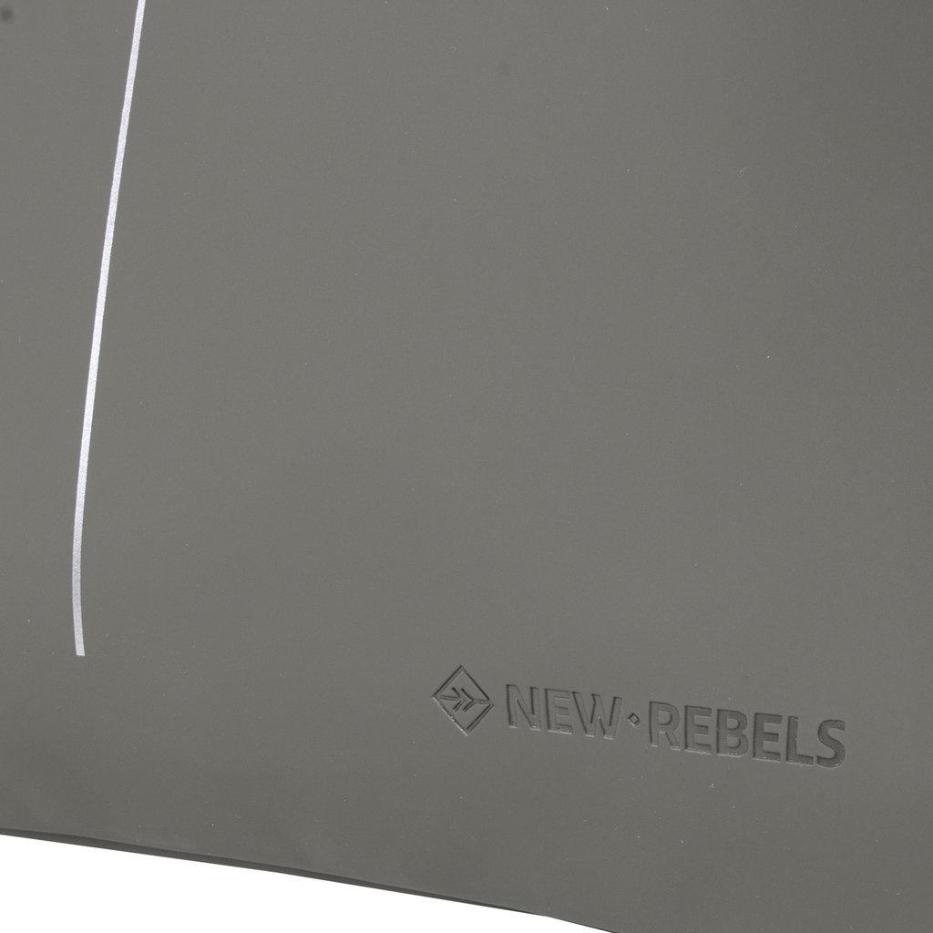 New Rebels® - Schoenentas - Zwemtas - Gymtas - 3L - Polyurethaan - Antraciet