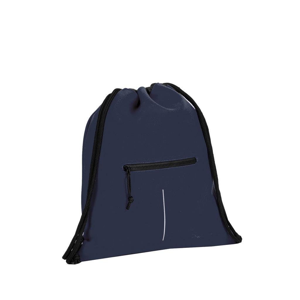 New Rebels® - Schoenentas - Zwemtas - Gymtas - 3L - Polyurethaan - Navyblauw