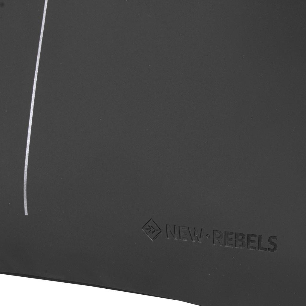 New Rebels® - Schoenentas - Zwemtas - Gymtas - 3L - Polyurethaan - Zwart