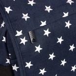 New Rebels®  Star26 - Medium Schoudertas  A4 - Crossbodytas met flap - with stars -  shadow blue with stars