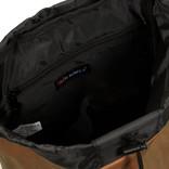 New Rebels Waxed Flapover Backpack   Rucksack Brown